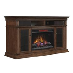 Style Selections In W BTU Cherry Wood And Wood Veneer Fan - Style selections electric fireplace