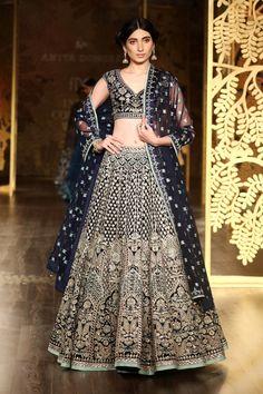 Indian Designer Lehenga Choli Wedding Carbon Blue Color and Designer Bridal Lehenga, Lehenga Choli Wedding, Pakistani Bridal, Pakistani Dresses, Indian Dresses, Pakistani Suits, Punjabi Suits, Lehenga Choli Designs, Indian Lehenga