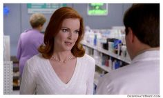 Desperate Housewives Bree Van De Kamp white cable knit sweater Desperate Housewives Bree, Bree Van De Kamp, Marcia Cross, Female Friends, Cable Knit Sweaters, Housewife, Sweater Fashion, Sweater Weather, Role Models