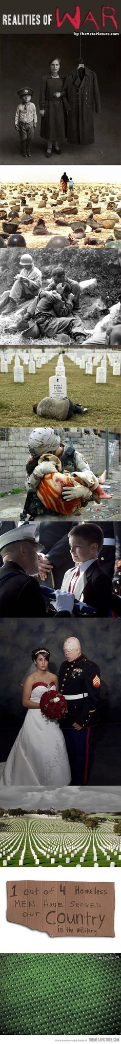 Realities of war… Very heart breaking. Freedom isn't free. Anyone who disrespects US military personnel should try out living in another country. America is better of without individuals who can't appreciate the sacrifices that secure their liberty.