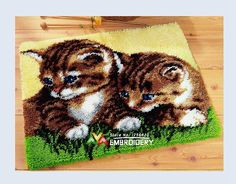Find More Cushion Information about Hot Latch Hook Rug Kits DIY Needlework Unfinished Crocheting Rug Yarn Cushion Mat Double Cats 3D Embroidery Carpet Free Shipping,High Quality Cushion from DIY embroidery store on Aliexpress.com