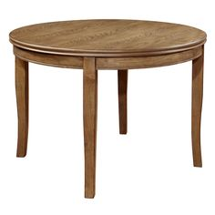 Furniture of America Hallins Natural Oak Round Dining Table
