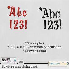 February BAK: Bowl-a-rama alpha pack by Shel Belle Scraps