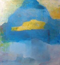"Saatchi Art Artist Karin Aherne Jansen; Painting, ""Yellow and Blue"" #art"