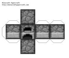 Minecraft Papercraft Furnace and website allows you to create any type of block you want and print it.