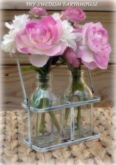 Wedding Table Centerpiece Flower Vase 2 Milk by MinSvenskaLandgard, $12.00