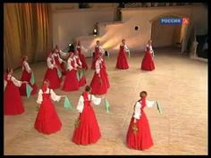 Russian Women In Red Dresses Do Folk Dance Berezka - FaithTap Folk Dance, Dance Art, Ballet Dance, Russian Folk, Russian Ladies, Kinds Of Dance, Flowing Dresses, Beautiful Costumes, Folk Music