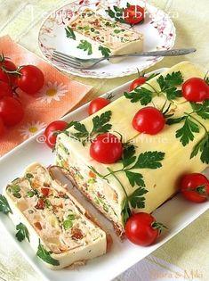 Vegetable Terrine With Cheese. Vegetable Terrine With Cheese. Gelatin Recipes, Milk Recipes, Cheese Recipes, Cooking Recipes, Retro Recipes, Vintage Recipes, Bratwurst, Romanian Food, Foie Gras