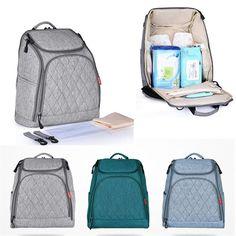 [US$36.39] Mummy Maternity Nappy Diaper Bag Large Capacity Baby Travel Handbag Backpack #mummy #maternity #nappy #diaper #large #capacity #baby #travel #handbag #backpack
