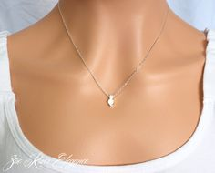 Tiny silver cat necklace pendant Low shipping  by ZoeRiverElegance, $17.50