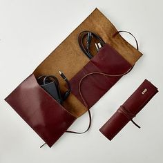 Double Leather Charger Roll Up | Mark and Graham