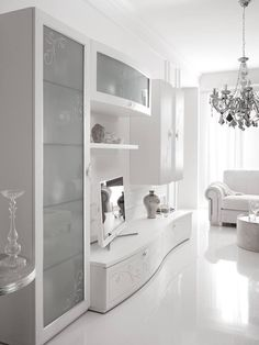 Elegant finishes and decorations to make the refined and classy. This trendy decoration fashion, Living Room Wall Units, Living Room Tv Unit Designs, Living Room Interior, Home Living Room, Living Room Decor, Zen Home Decor, Home Decor Furniture, Furniture Design, Home Room Design
