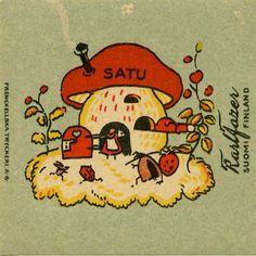 Satu, Fazer Finland, Mushrooms, Retro Vintage, Nostalgia, Snoopy, Printables, Candy, Graphic Design, Templates