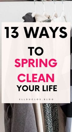 13 ways to spring clean your life. The best tips for having a life detox. Spring Cleaning, Deep Cleaning, Interview Advice, Clean Fridge, Planners, Positive People, Finding Happiness, Organizing Life, Organization
