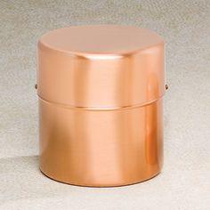 Copper Cylinder Cremation Urn - Urns Northwest. Modern design meets utility with this simple and elegant copper cylinder memorial urn.