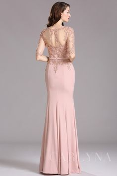 Carlyna Blush Illusion Beaded Applique Formal Dress with Sweetheart Trendy Dresses, Elegant Dresses, Nice Dresses, Fashion Dresses, Formal Dresses, Dress Brokat, Kebaya Dress, Lace Bridesmaids, Bridesmaid Dresses
