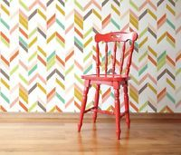 Self adhesive Wallpaper Creative Chevron Pattern Removable Nursery Decor 045