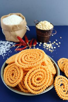 Arisi Murukku is a crispy crunchy South Indian snack made with rice flour and roasted gram flour dal flour. Perfect to enjoy as an anytime snack. Indian Beef Recipes, Goan Recipes, Fried Fish Recipes, Gujarati Recipes, Snack Recipes, Cooking Recipes, Vegetarian Recipes, Indian Desserts, Indian Snacks