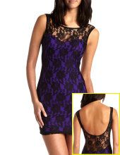 Purple clubbing dresses
