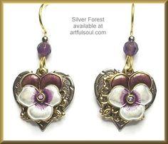 <a href=http://www.artfulsoul.com/store/infosifo9136.html target=window2>Silver Forest Sweetheart Pansy Earrings</a>