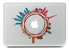 "Last Innovation Famous buildings over the world Removable Vinyl Decal Sticker Skin for Macbook Pro Air Mac 13"" Laptop"