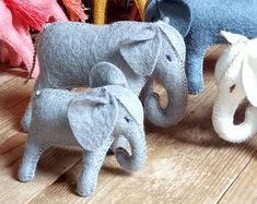 Natural toys wool felt animals role play Waldorf eco by Felthorses Toys For Girls, Gifts For Boys, Girl Gifts, Felt Animals, Baby Animals, Mother And Baby Elephant, Felt Gifts, Natural Toys, Pet Toys