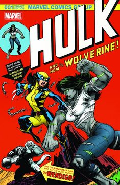 Hulk Vol. 4 (The Hall of Comics Exclusive Variant) (Herb Trimpe, John Romita and Gaspar Saladino's Incredible Hulk Vol. 1 Homage) Art by: Ed McGuinness Marvel Wolverine, All New Wolverine, Marvel Art, Marvel Heroes, Logan Wolverine, Marvel Girls, Comic Book Characters, Marvel Characters, Comic Book Heroes
