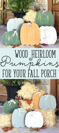 Fall is in the air and it is time to decorate for Autumn. Wouldn't these wood pumpkins be perfect on your porch? Mix and match colors and sizes to create your own pumpkin patch this year.
