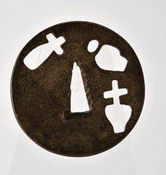 Tsuba with Christian motives