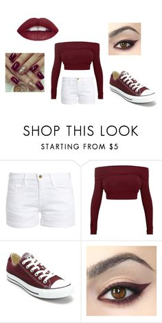 """""""Summer+Autumn"""" by alaynamccasland ❤ liked on Polyvore featuring Frame, Converse and L.A. Girl"""