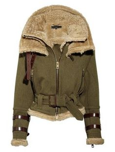 love this burberry line of shearling coats