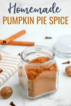 Pumpkin Pie Spice Recipe made with only five ingredients. Add the flavors of fall to your favorite recipes like pies, cookies, smoothies, and more with this simple blend of warm spices! Easy Pumpkin Pie, Pumpkin Spice Muffins, Homemade Pumpkin Pie, Spice Muffin Recipe, Pie Spice Recipe, My Favorite Food, Favorite Recipes, Sweet Recipes, Easy Recipes