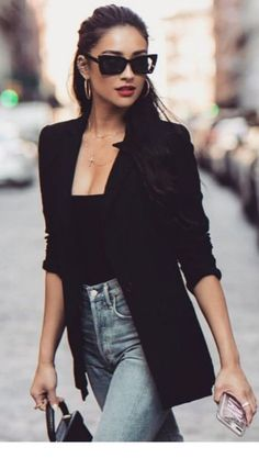 outfit with blazer Outfits Jeans, Style Outfits, Classy Outfits, Fashion Outfits, Fashion Clothes, Fashion Jewelry, Black Women Fashion, Look Fashion, Trendy Fashion