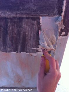 Stripping Painted Furniture: The Garbage Bag Trick