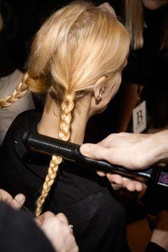 Paris Fashion Week F/W2014-15 Show: Sonia Rykiel | L'Oréal Professionnel #LPBACKSTAGE #LOREALPROFESSIONNEL #PFW Fashion Week, Paris Fashion, L'oréal Professionnel, Sonia Rykiel, Hair Styles, Beauty, Braids, Hair Plait Styles, Hair Makeup