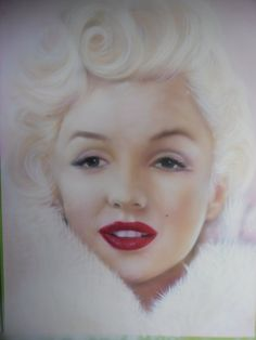 Marilyn Monroe White by *Julia-Tapp on deviantART [air brushed portrait]   This image first pinned to Marilyn Monroe Art board, here: http://pinterest.com/fairbanksgrafix/marilyn-monroe-art/    #Art #MarilynMonroe