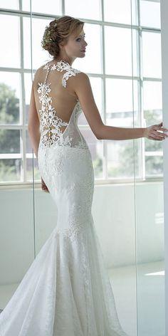 Gorgeous Tattoo Effect Wedding Dresses ❤ See more: http://www.weddingforward.com/tattoo-effect-wedding-dresses/ #weddings