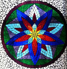 glass on glass mosaic