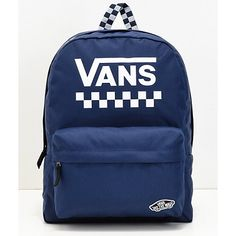 Vans presents their Sporty Realm Backpack, their signature Realm bag in a brand new sporty aesthetic. This canvas constructed accessory features logo script and vintage-inspired racing checkerboard details throughout the exterior. Vans Backpack Girls, Addidas Backpack, Diy Backpack, Cute Backpacks For School, Kids Backpacks, Mochila Herschel, Vans Bags, Vans School Bags, Totes