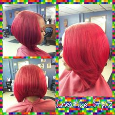 We heart bangin' colored bobs! Weave Bob Hairstyles, Dope Hairstyles, Black Hairstyles, Quick Weave Bob, Bob Weave, Natural Hair Styles, Short Hair Styles, Bob Styles, Sassy Hair
