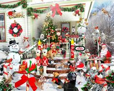 crazy christmas jigsaw puzzle by artist lori schory 1000 piece puzzle visit www