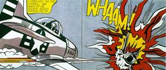 "This had always been a favorite at piece of mine. I think it could make a cool tattoo.  Roy Litchenstein, ""Whaam!"", c1963"
