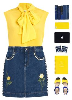 Yellow sunshine ☀️ by genesis129 on Polyvore featuring Moschino, STELLA McCARTNEY, Geox, Polaroid and vintage