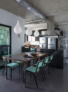 Décor do dia: sala de jantar com sotaque industrial - Casa Vogue   Décor do dia