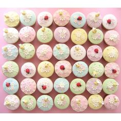 Pastel Cupcakes ❤ liked on Polyvore