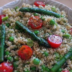 Vickys Quinoa Salad with Peas, Beans & Asparagus, Gluten, Dairy, Egg & Soy-Free