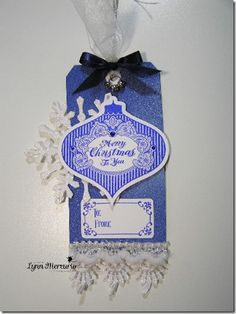 Merry-Christmas-to-you-tag created using the Ornate Ornament set from Waltzingmouse Stamps