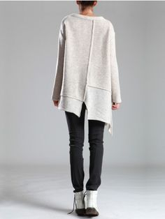 KNITTED WOOL SWEATER - Woman -