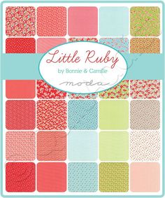 Moda Fabrics - Little Ruby by Bonnie and Camille - Fat Quarters / 40 Pieces