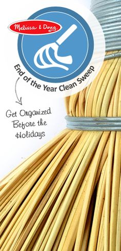 {End of the Year Clean Sweep} *Collection of 10 ways parents can get organized before the holidays